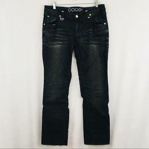 COOGI Jeans Straight Leg Black Gray Silver 13/14
